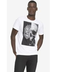 Express Graphic Tee - Skull Floral - Lyst