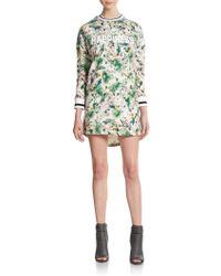 ELEVEN PARIS Cj Leaf Print Happiness Dress - Multicolor