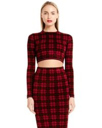 Torn By Ronny Kobo London Plaid Crop Top - Lyst