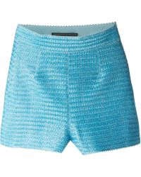 Ermanno Scervino High Waisted Shorts blue - Lyst