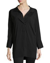 Donna Karan New York Long Stretch Cotton Tunic - Lyst