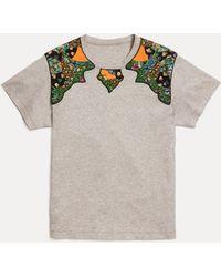 COACH Western Yoke Tee Shirt - Gray