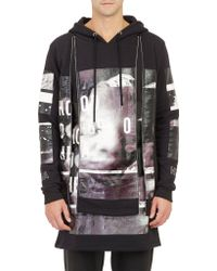 Hood By Air Double Layer Zip-trim Graphic Hoodie - Lyst