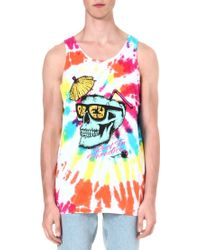 Obey Rest in Paradise Cotton Vest - For Men - Lyst