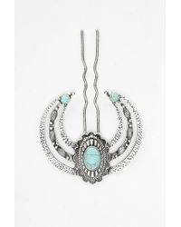 Urban Outfitters Turquoise Bun Holder silver - Lyst