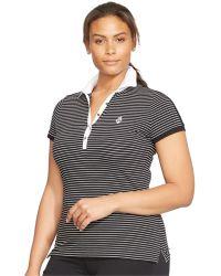 Lauren by Ralph Lauren Plus Size Striped Polo Shirt - Lyst