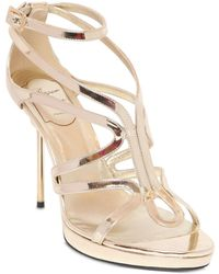 Roger Vivier 110Mm Ondulation Mirror Leather Sandals - Lyst
