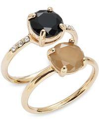 ABS By Allen Schwartz Solitaire Ring Set - Metallic