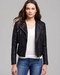 Blank Jacket Faux Leather Moto - Black