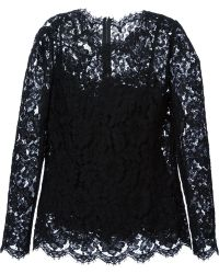Dolce & Gabbana Floral Lace Top - Lyst