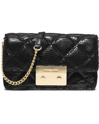 MICHAEL Michael Kors Quilted Embossed Patent Leather Crossbody - Lyst
