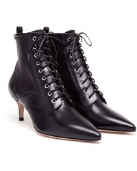 Gianvito Rossi Lace-up Leather Boots - Lyst