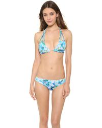 DEL MAR - Anika Reversible Bikini Top - Blue/turquoise - Lyst