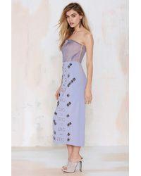 Three Floor You Crazy Diamond Strapless Dress - Purple
