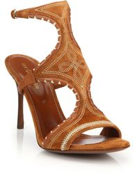 Sergio Rossi | Maya Embroidered Sandals | Lyst