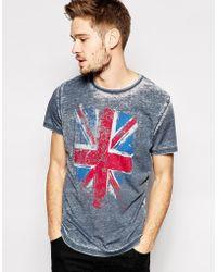 Pepe Jeans - Pepe T-Shirt Orleans Slub Overdye Flag Print - Lyst
