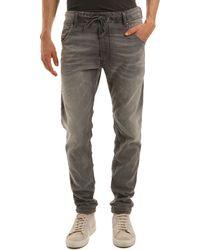 Diesel Krooley-Ne Grey Jogg Jeans gray - Lyst