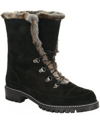 Stuart Weitzman Bobsled Suede Ankle Boots - Lyst