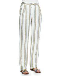 Loro Piana - Larrie Linen-blend Shadow-striped Pants - Lyst