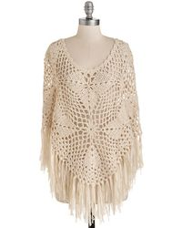 Bizz Inc Dba En Creme Roll With The Poncho Top - Lyst