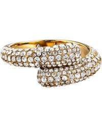 Michael Kors Pave Bypass Ring - Lyst