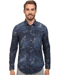 Calvin Klein Jeans Indigo Camo Shirt (Denim) - Lyst