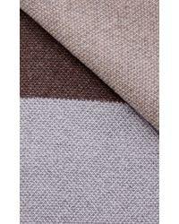 Inverni - Square Pattern Cashmere Scarf - Lyst