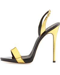 Giuseppe Zanotti Metallic High-Heel Halter Sandal - Lyst