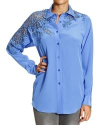 Ermanno Scervino Shirt Silk with Lace - Lyst
