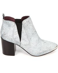 Report Signature Toby Leather Booties - Lyst