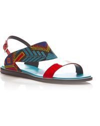 Nicholas Kirkwood Mexican Patent Leather And Embroidered Sandals - Lyst
