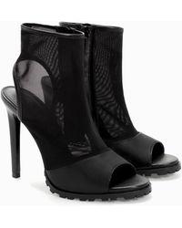 Zara Mesh High Heeled Bootie - Lyst