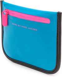 Marc By Marc Jacobs Luna Tarp Coin Pouch  Black - Lyst