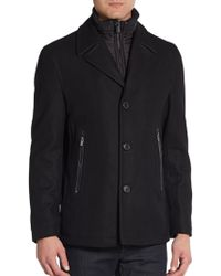 Michael Kors Wool  Nylon Coat - Lyst