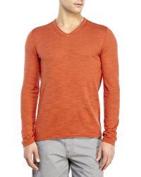 John Varvatos V-Neck Sweater - Lyst