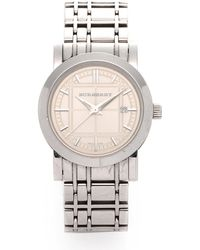 Burberry Heritage Watch silver - Lyst