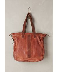 Anthropologie Double Pocket Leather Tote - Lyst