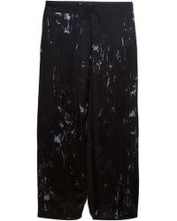 Yohji Yamamoto Devoré Pattern Wide Leg Trousers - Lyst