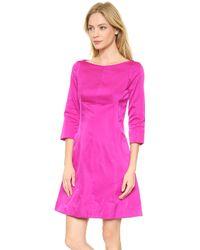 Nina Ricci 34 Sleeve Dress Fuchsia - Lyst