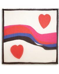 Alexander McQueen Hearts Modal & Silk Scarf - Lyst