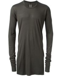 Rick Owens Gray Long Tshirt - Lyst