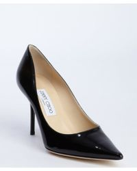 Jimmy Choo Black Patent Leather Agnes Pointed Toe Pumps - Lyst