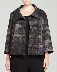 Eileen Fisher Plus Abstract Print Jacquard Jacket - Lyst