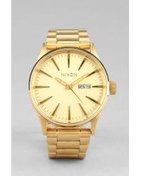 Nixon Sentry Goldmetal Watch - Lyst