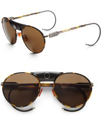 Proenza Schouler Round Metal Acetate Sunglasseslight Tortoise brown - Lyst