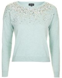 Topshop Scatter Necklace Jumper - Lyst