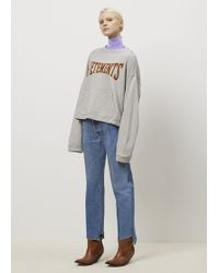 Vetements | Grey Hoodie Sweatshirt | Lyst