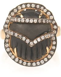 Silvia Furmanovich Ebony Yellow-gold Ring - Grey