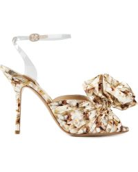 Moschino Floral Print Sandals - Lyst