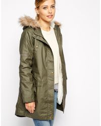 Oasis Waxed Parka - Lyst